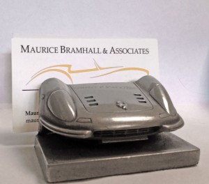Ferrari Dino Business Card Holder with a card in it