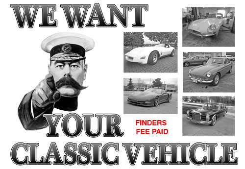 We Want Your Classic Vehicle