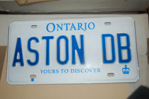 Aston Martin Plate